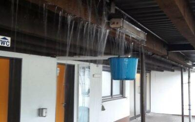 Wassereinbruch TV Pergola